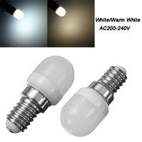 Bulbs T22 2W E14 Refrigerator LED Lighting Mini Lamp AC220V Bright Indoor Fridge Freezer Chandeliers Warm White