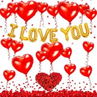Я люблю тебя 8 букв Balloons Kit 40см Большая алюминиевая фольга любовь воздушный шар набор для валентинок свадьба годовщины вечеринки украшения