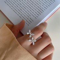 Cluster Rings Silvology 925 Sterling Silver Zircon Bow-knot Flowers Elegant Light Luxury For Women 2021 Festival Jewelry Designers