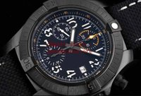 방수 망 레이싱 럭셔리 손목 시계 운동 ETA 7750 크로노 그래프 자동 빛나는 시계 PVD 블랙 스틸 나일론 스트랩 디자이너 시계
