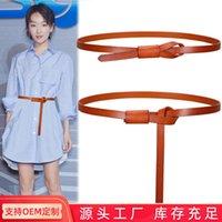 Cinturones de cuero delgado de cuero de las mujeres Traje de decoración del cinturón versátil de la moda de la moda con la camisa de la camisa