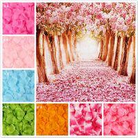 100 pezzi / lotto 5 * 5 cm fiori artificiali simulazione petali di rosa decorazioni decorazioni matrimonio matrimonio rose fiore regalo