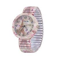 Nowy wzór Geneva Silikonowy Zegarek Drukowany Kwiat Rozrywka Kwarcowy Zegarek Kobiet