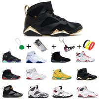 Dunks New 7 7s 25º aniversário baixo branco Concord 45 Bred Men Sapatos de basquete Ginásio Red Gamma Blue Xi Mulheres Esportes Sapatilhas Sapatos EUR 40-47 com meias keychian