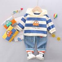 Erkek Giyim Setleri Pamuk Erkek Takım Elbise Erkek Bebek Giysileri Yürüyor Giysileri Bebek Setleri Uzun Kollu Hoodies + Pantolon 1-4Years