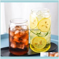 Drinkware Kitchen, Dining Bar Home & Garden400Ml 600Ml Can Shape Glass Fashion Water Milk Juice Simple Cup Beer Dessert Shake Wine Glasses D