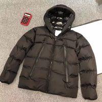 겨울 다운 자켓 최고 품질의 남성용 복어 큰 진짜 두건 두꺼운 따뜻한 파커 Doudoune Homme 야외 고급 패션 캐주얼