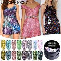 Lagunamoon Jazzy Glitter Gel 네일 폴란드어 UV LED 욕실 오프 바니시 래커 세미 영구 반짝이 5G