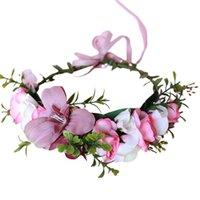 إجازة قابل للتعديل زهرة عقال جنية اكليلا تاج الزفاف جارلاند غطاء الرأس