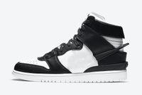 2021 Otantik Ambush Dunk Yüksek Siyah Beyaz Kozmik Fuşya Aktif Fuşya / Lethal Pembe Erkek Kadın Açık Ayakkabı Spor Sneakers Kutusu