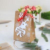 6 스타일 유럽의 새로운 크리스마스 사탕 상자 크리스마스 크래프트 종이 눈송이 종이 가방 비스킷 사탕 가방 RRD7502