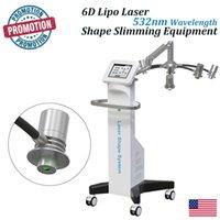 6D lipolaser culotte de cheval lipo laser abdomen 635nm 532nm green color and red color lazer slimming machine