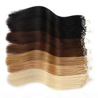 99J Micro Loop Человеческие волосы наращиты для волос микро кольцо 0.5 г 100strands 100% REMY бразильские индийские волосы 14-24 дюйма заводские прямые 10 цветов опционально
