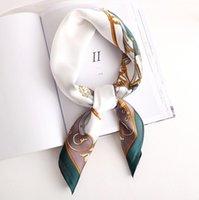 Nouveau petit écharpe rétro FEUILLEURS Écharpe Sunscreen Foulard Fashion Art Décoration Carrelage Soie Soie Soie GC11