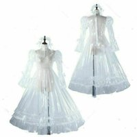 New Sissy maid organza dress lockable Uniform cosplay costume for Animation Exhibition Beach Holiday Sexy Party Prom Night Dresses