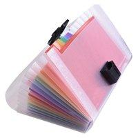 A6 ميني 13 جيوب المحمولة تخزين كليب مع مشبك توسيع ملف مجلد rainbow وثيقة المنظم متعدد الألوان المحفظة حالة