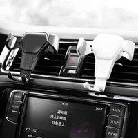 Teléfono celular soportes Soporte de gravedad Soporte de automóvil Montaje de ventilación de aire Soporte de cuna Suporte Celular Carro Gravidade para GPS móviles