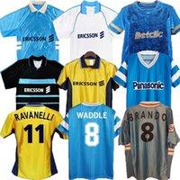 1998 1999 2000 Marseille Retro Olympique de Soccer Jersey 90 91 92 93 11 12 Pires Maurice Blanca Ravanelli de la Pena Gallas Classic Vintage Football Shirt