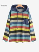 Women's Hoodies & Sweatshirts Women Hooded Sweatshirt Cotton Harajuku Ruched Long Sleeve Autumn Winter Loose Drawstring Casual Streetwear