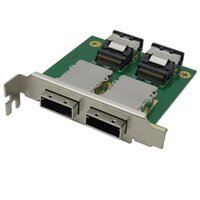 2PORT INTERNIQUE SFF-8087 à externe 8088 PCIMI MINI SAS-26P Câble RAID