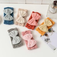 Hair Accessories MISANANRYNE Coral Fleece Bow Band Solid Color Wash Face Makeup Soft Headbands Fashion Turban Head Wraps