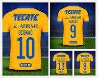 Tigres 10 Gigna 7 Estrelas 9 Vargas 21-22 Personalizado Tailandês Qualidade Futebol Jersey Jersey Wear Dropshipping Aceitado Loja Online Wear