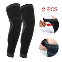 Elbow & Knee Pads 2PCS Full Leg Compression Sleeves Long Pad Sleeve Warmers Legwarmer For Men Women Basketball Arthritis Cycling Sports