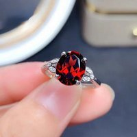 Wedding Rings Simple Luxury Clover Simulation Red Open Ring Women Fashion Caibao Live Hand Jewelry For Girlfriend Engagement Party Gift
