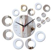 Vendita calda Specchio in acrilico limitato 3D DIY orologio da parete orologio orologio da parete moderno still life design orologi al quarzo soggiorno adesivo murale