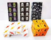 Infinity Cube Candy Candy Fidget Puzzle Anti Decompompression Jouet Toy Finger Spinners Jouets amusants pour adultes enfants adhd Stress Soulagement Cadeau Color Coffret