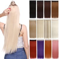 """Synthetic Wigs S-nolilite 42 Colors 22""""24""""26""""30"""" Long Straight 5 Clip In One Piece Hair Hairpiece For Women"""