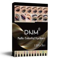 Combinazione 12 colori opaco Liquids Eye Liner Set di colori Set, Blu Nero Verde Green Brown Liquid Eyeliner Gyliner Biner