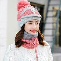 Chapeau de chapeau tricoté féminin Casquettes Casquettes Chapeau d'hiver Réchauffeur pour dames Girls Caps