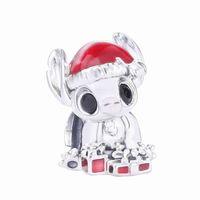 Ajax Real 925 Sterling Silver Anime Mooie steek Bedels Dier voor Armbanden Kerst Dames Gift Bijoux Luxe