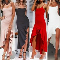 Casual Dresses Elegant Women's Summer Dress 2021 V Neck Backless Robe Club Sexy Long Ladies Slim Party Spaghetti Strap Maxi Femme