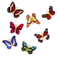Pegatinas de la pared de la mariposa colorida Fácil instalación Noche Luz LED Lámpara LED Casa Vida Sala de niños Dormitorio Dormitorio Decoración con nave rápido