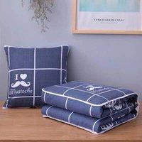 Pillow quilt custom cushion quilt dual purpose car sofa office nap quilt custom logo creativity is a multi-purpose