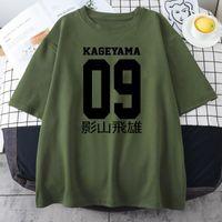 Erkek T-Shirt Kageyama Tobio Haikyuu Anime Baskı Tees Gömlek Kısa Kollu Tops Eğlence Boy Tişörtleri Yaz Nefes Mens