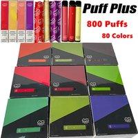 80 Colori Puff Plus Monouso e sigarette e sigarette VAPE PUFFLIPLUS 800 Spilloni Kit di avviamento 550mAh Batteria VAPES PEN Penna Penna 3.2ml Carrelli vaporizzatore Barra aggiornata con il codice di sicurezza vuoto