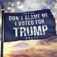 3x5 не вините меня, я проголосовал за флаг Трампа, цифровая печать 100D полиэстер пользовательских баннерного фестиваля, двойное сшивание