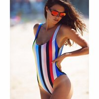 Women Bodysuit Rainbow Swimwear Piece Swimsuit New Brand Ladies Push Up plus size Sexy One Piece Swim Suits