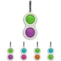Neue Nagetier Pioneer Keychain Dekompression Spielzeug Mini Keychain Anhänger Rainbow Tarnung Herzförmige Finger Bubble Music Heißer Verkauf