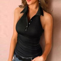Women's Tanks & Camis Summer Women Vest Sexy Sleeveless Off Shoulder Cami Tops Solid Color Ladies Tank Button Casual Female Camisole Streetw