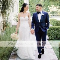 Other Wedding Dresses 2021 Vintage Appliques Gowns Sweetheart A-Line Tulle Bridal Dress Robe De Mariee