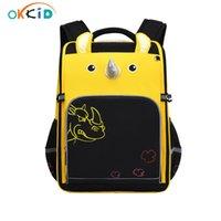 Okkid Kinder Schultaschen Animal Print Primary Student School Rucksack Jungen Wasserbeständige Schultasche Mädchen Bücherbag Dropshipping 210306