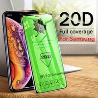 Samsung A31 A20 A30 A50 M10 M20 M30 M40 20D HD 클리어 프로텍션 유리 커버 용 전체 화면 강화 유리 필름
