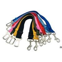 Ajustável Cão de estimação Colares de Segurança Cinto de Segurança Nylon Pet Puppy Chumbo Leash Harness Fornecimentos Viagem HWB7546