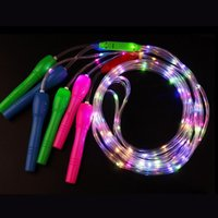 Jump Ropes Light Up LED Speed Skipping Rope Children Kids Sports Primary School Gym Portable Body Exercise Fitness Equipment