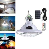 태양 전구 야외 E27 22LED 전구 캠핑 텐트 램프 랜턴 AC / 태양 전원 홈 비상 램프 낚시 하이킹 도구