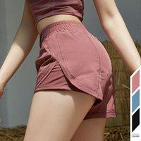 2021 Mode Pantalon de Yoga de luxe Couleur Solide Femmes Sports Pantalons Shorts High Taille HIP HIP Lifting Fitness Leggings élastiques